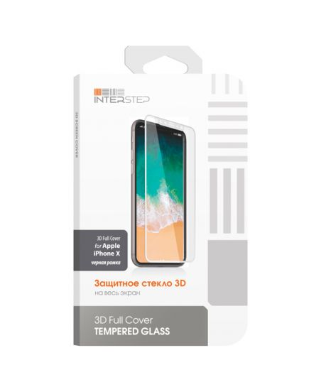 Защитное стекло для iPhone InterStep для iPhone X